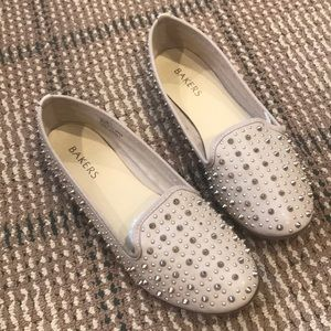 Bakers nude flats with studs